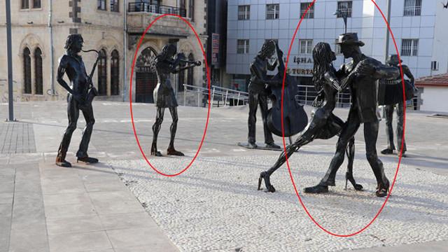 AK Partili belediyede kadın heykelleri ''kayboldu''!