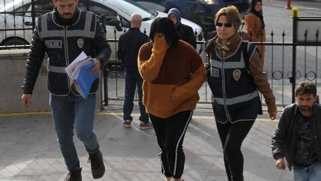 Fuhuş yaptırdığı iddia edilen kadın tutuklandı !