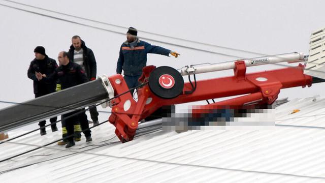 Vincin kolunun altında kalan işçi öldü