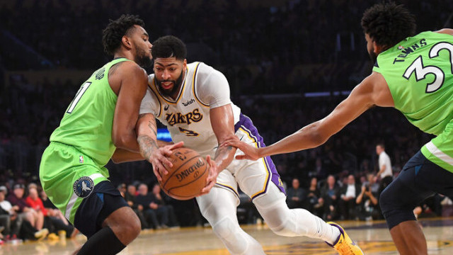 Los Angeles Lakers-Minnesota Timberwolves maç sonucu: 142-125 (Anthony Davis'ten 50 sayı)