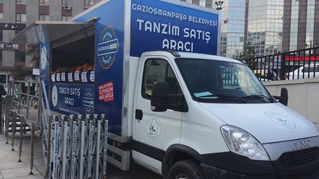 İstanbul'da meyve sebze satan ilk satış noktası kuruldu