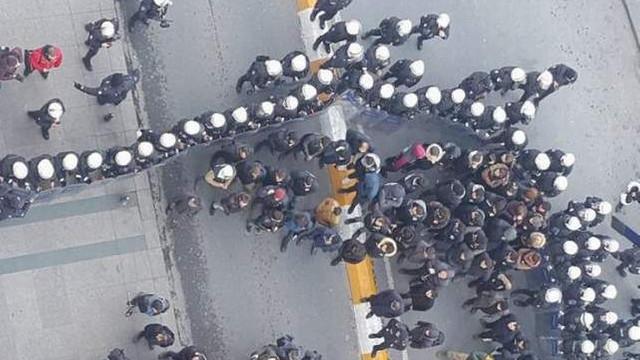 HDP'nin İstiklâl'deki yürüyüşüne polis engeli