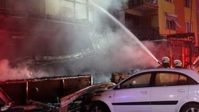 HDP binasında yangın çıktı