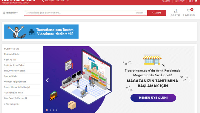 Türkiye'deki tüm üreticiler tek çatı altında, ticarethane.com'da