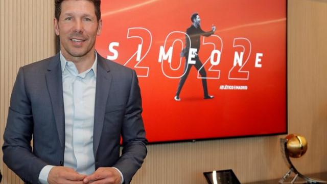 Atletico Madrid'de Diego Simeone'nin sözleşmesi 2022'ye kadar uzatıldı