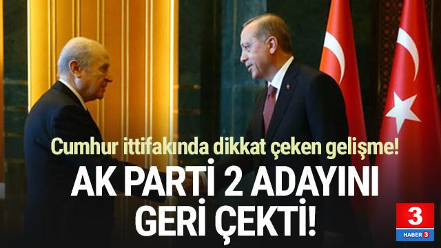 İşte AK Parti'nin adayını çektiği iller