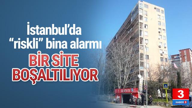 İstanbul'da bir site tahliye ediliyor !