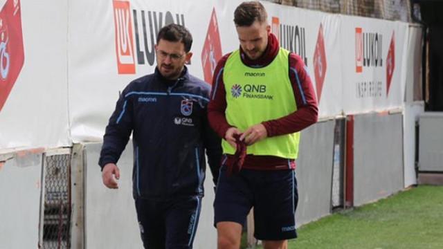 Trabzonspor'da Novak çıktığı ilk idmanda yeniden sakatlandı