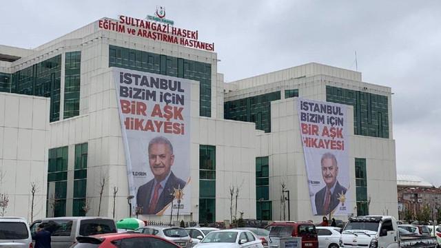 Devlet hastanesinde seçim propagandası