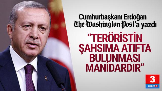Erdoğan Washington Post'a makale yazdı