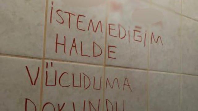 Üniversiteyi karıştıran taciz iddiası ! Tuvaletin duvarına yazdılar