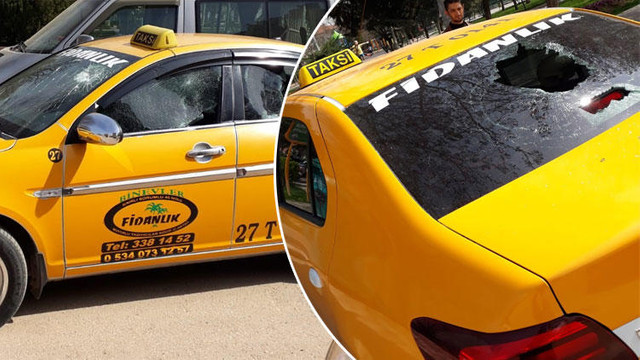 Taksicilerin silahlı yolcu kavgası !