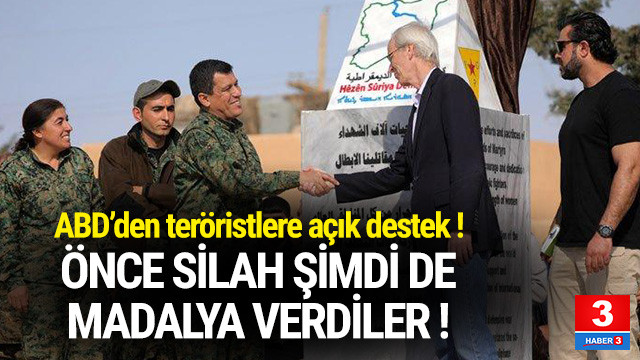 ABD PKK'ya silahtan sonra madalya verdi