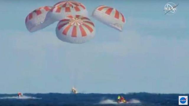 SpaceX Dünya'ya geri döndü