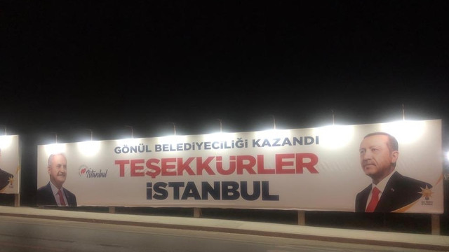 AK Parti ''Teşekkürler İstanbul'' pankartlarını kaldırıyor !