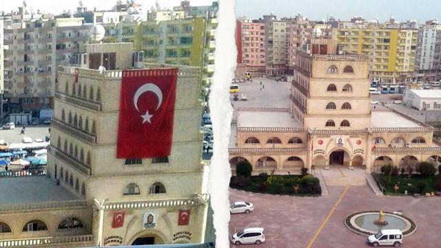 HDP'li belediye Türk Bayrağı'nı indirdi