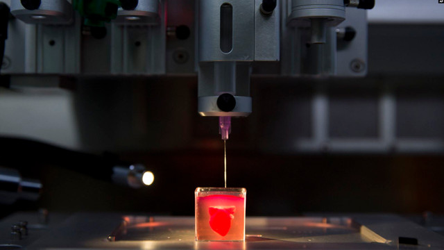 3 boyutlu yazıcıda kalp üretildi