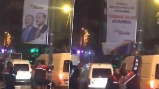 AK Parti'nin ''Teşekkürler İstanbul'' pankartlarına elveda