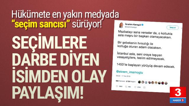 İbrahim Karagül'den Ekrem İmamoğlu için skandal tweet
