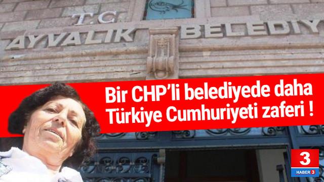 Türkiye Cumhuriyeti Ayvalık Belediyesi'nde de geri döndü