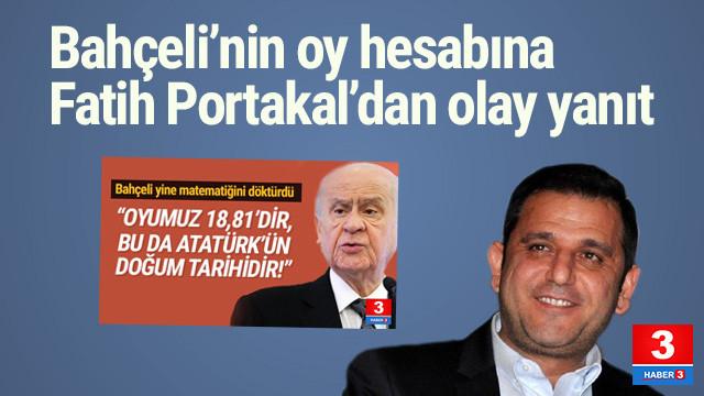 Fatih Portakal AK Parti'nin aldığı oyu açıkladı
