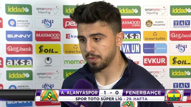 Ozan Tufan: Hem kendim hem de Fenerbahçe adına üzgünüm