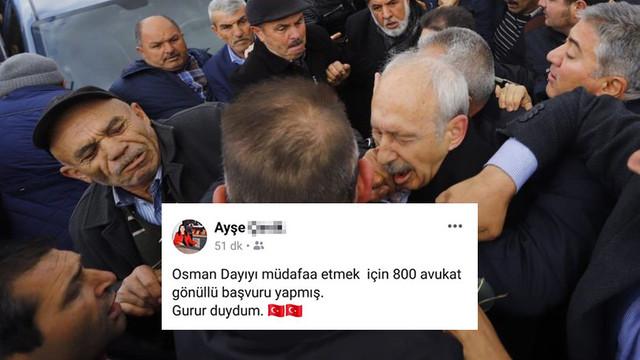 İlkokul müdüründen Kılıçdaroğlu'na yumruk atan saldırgana destek
