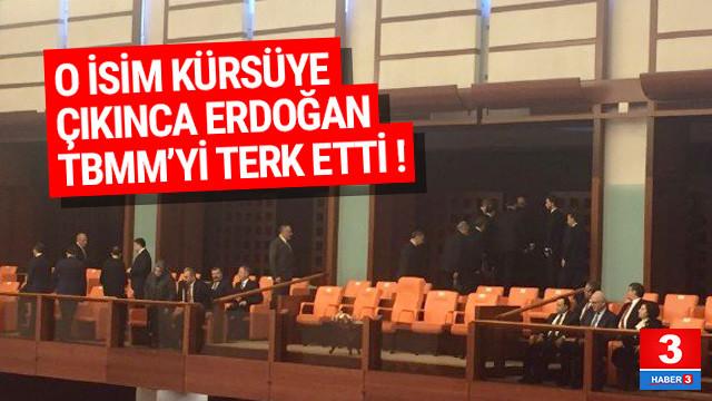 Erdoğan'dan HDP'ye tepki; TBMM'yi terk etti!