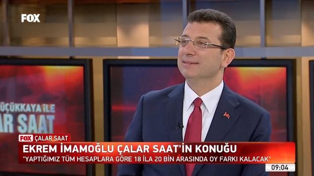 Ekrem İmamoğlu'ndan canlı yayında Erdoğan sorusuna yanıt