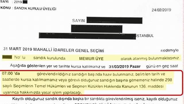 İptal edilen İstanbul seçimleriyle ilgili olay olan belge