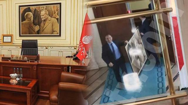 Atatürk portresini kim kaldırdı ?