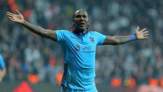 Hugo Rodallega Trabzonspor'da Beşiktaş'a 3 gol attı