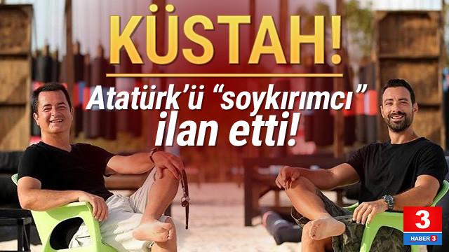 Skandal ! Survivor sunucusu Atatürk'ü ''soykırımcı'' ilan etti!