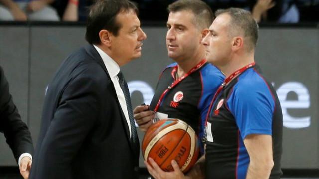 Ergin Ataman Banvit maçında ihraç edildi
