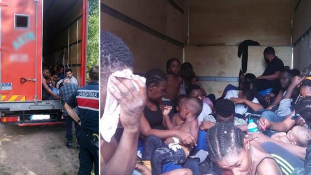 Yer: Kocaeli... Afrikalı kaçaklar bu hale yakalandı