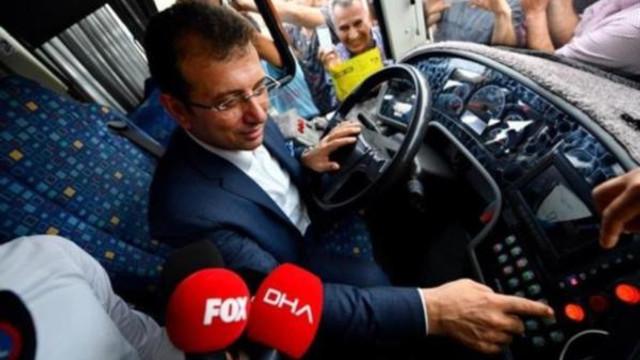 İmamoğlu 500T otobüs hattının başına geçti