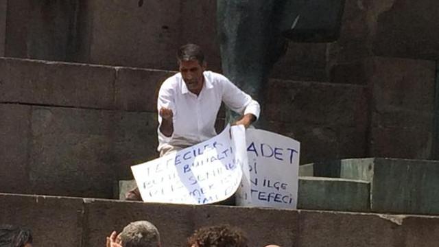 Ankara'da borç batağındaki esnaf kendini yakmak istedi