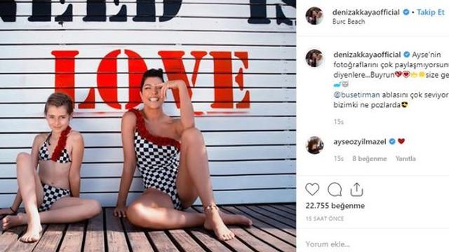 Kızıyla paylaştığı fotoğrafa gelen yorum Deniz Akkaya'yı çıldırttı