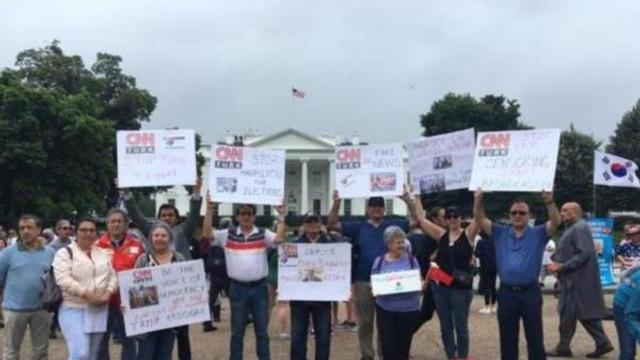 CNN Türk protestosu dünya medyasında