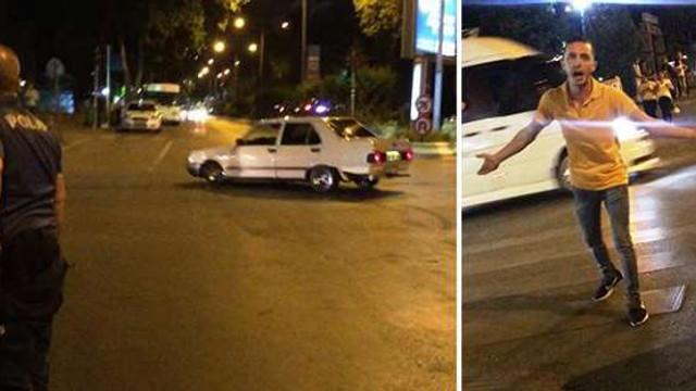 24 saat geçmeden ceza alan sürücü çılgına döndü