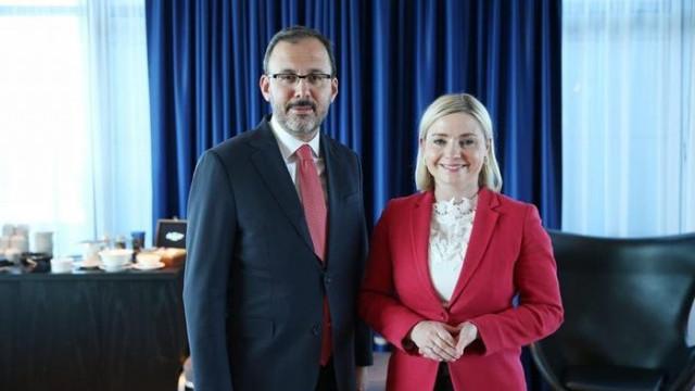 Mehmet Muharrem Kasapoğlu İzlanda Spor Bakanı ile görüştü