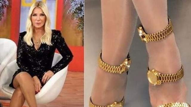 Seda Sayan'ın kol saatli ayakkabısı olay oldu