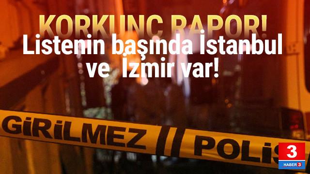 Korkunç rapor! Liste başında İstanbul ve İzmir var!