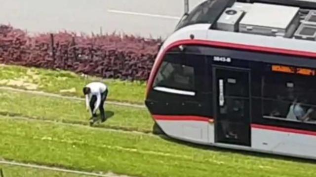 Tramvayı durdurdu: ''Ben yapılması gerekeni yaptım''