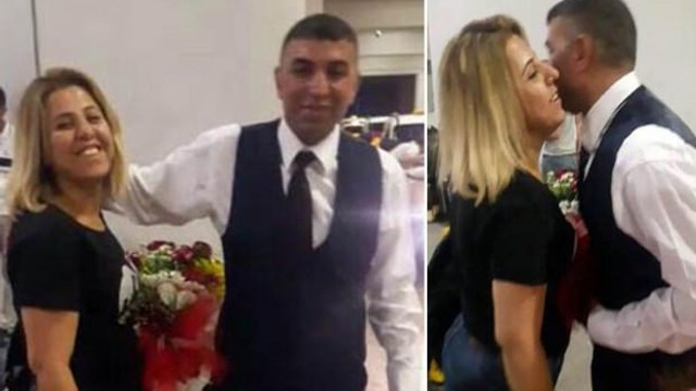 Karısını öldürmeden önce çiçeklerle karşılamış