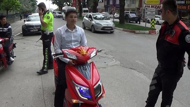 Elektrikli bisiklete polis çakarı cezası