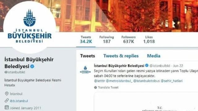 İBB Twitter hesabında sessizlik hakim !