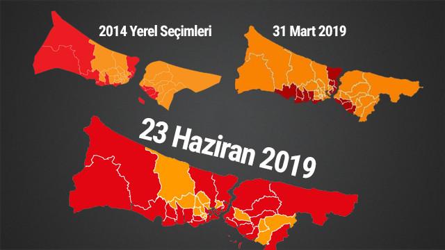 İstanbul'un seçim haritası böyle değişti