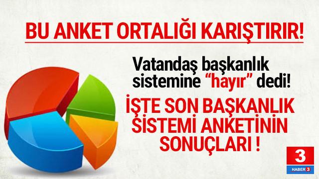 Metropoll 'başkanlık sistemi referandumu' anketi sonuçlarını açıkladı
