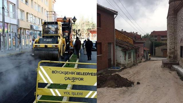 AK Partili Belediye 6 milyonluk asfaltı söküp yeniden yaptı